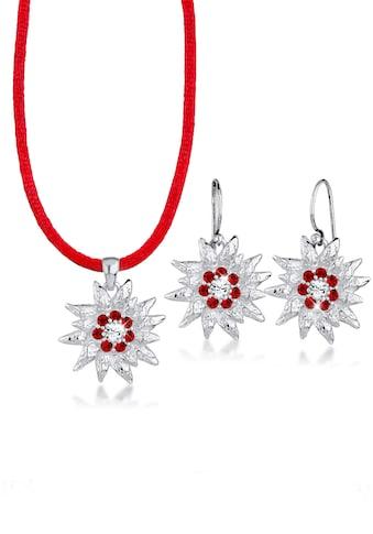 Elli Schmuckset »Edelweiss Kristalle Silber« kaufen