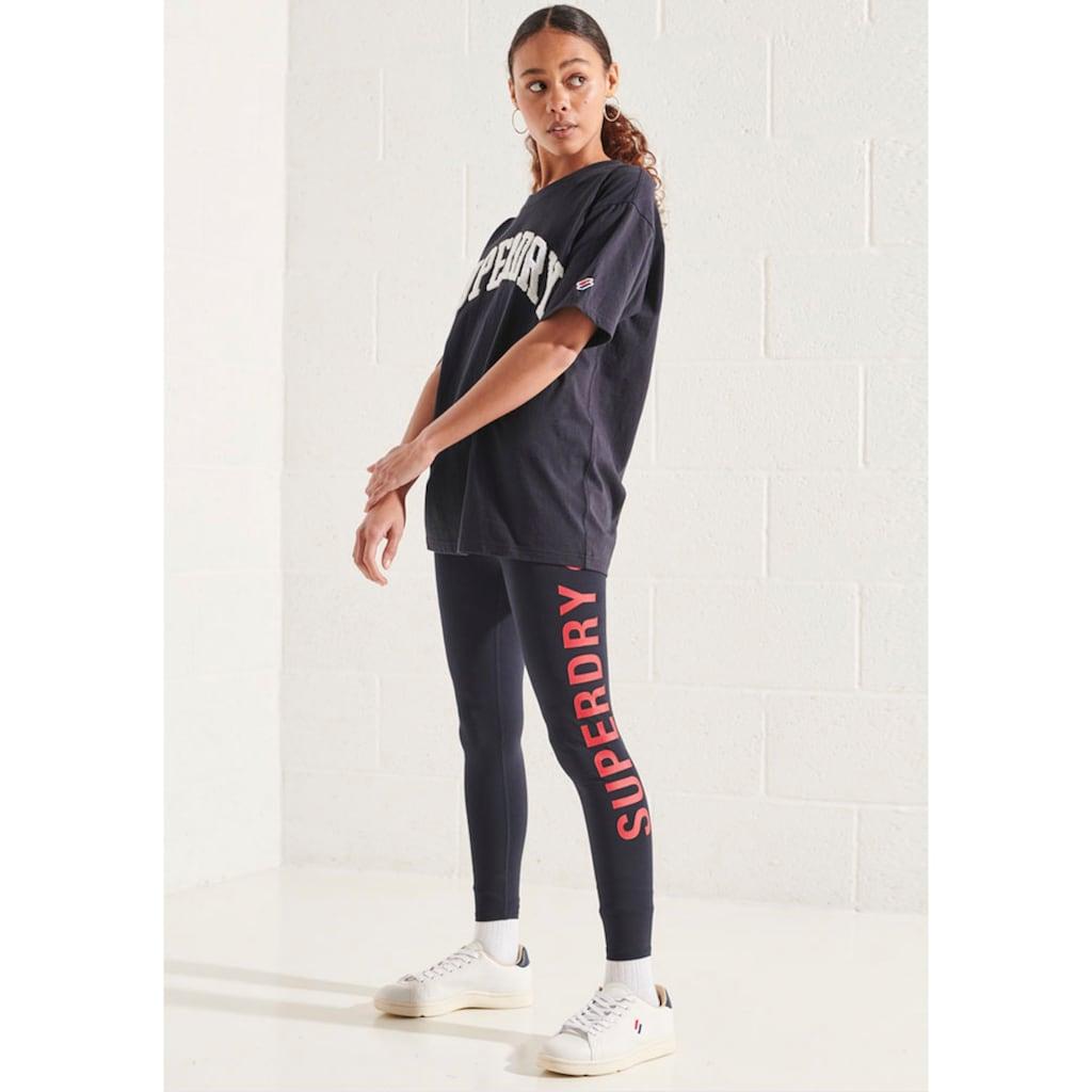 Superdry T-Shirt »Varsity Arch Mono«, Oversized Schnitt