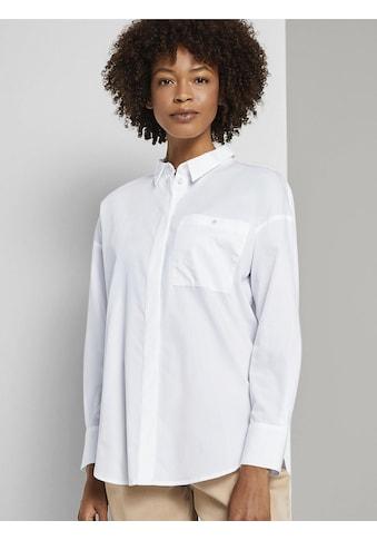 TOM TAILOR mine to five Blusentop »Hemdbluse aus Baumwolle« kaufen