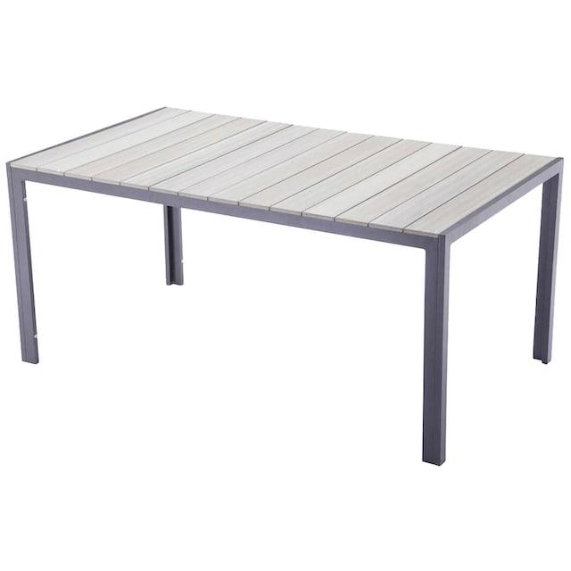 GARDEN PLEASURE Gartenmöbelset »OLIVIA«, 5-tlg., 4 Stühle, Tisch, Alu/Non-Wood,