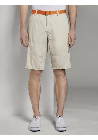 TOM TAILOR Denim Shorts »Cargoshorts mit abnehmbarem Gürtel« kaufen