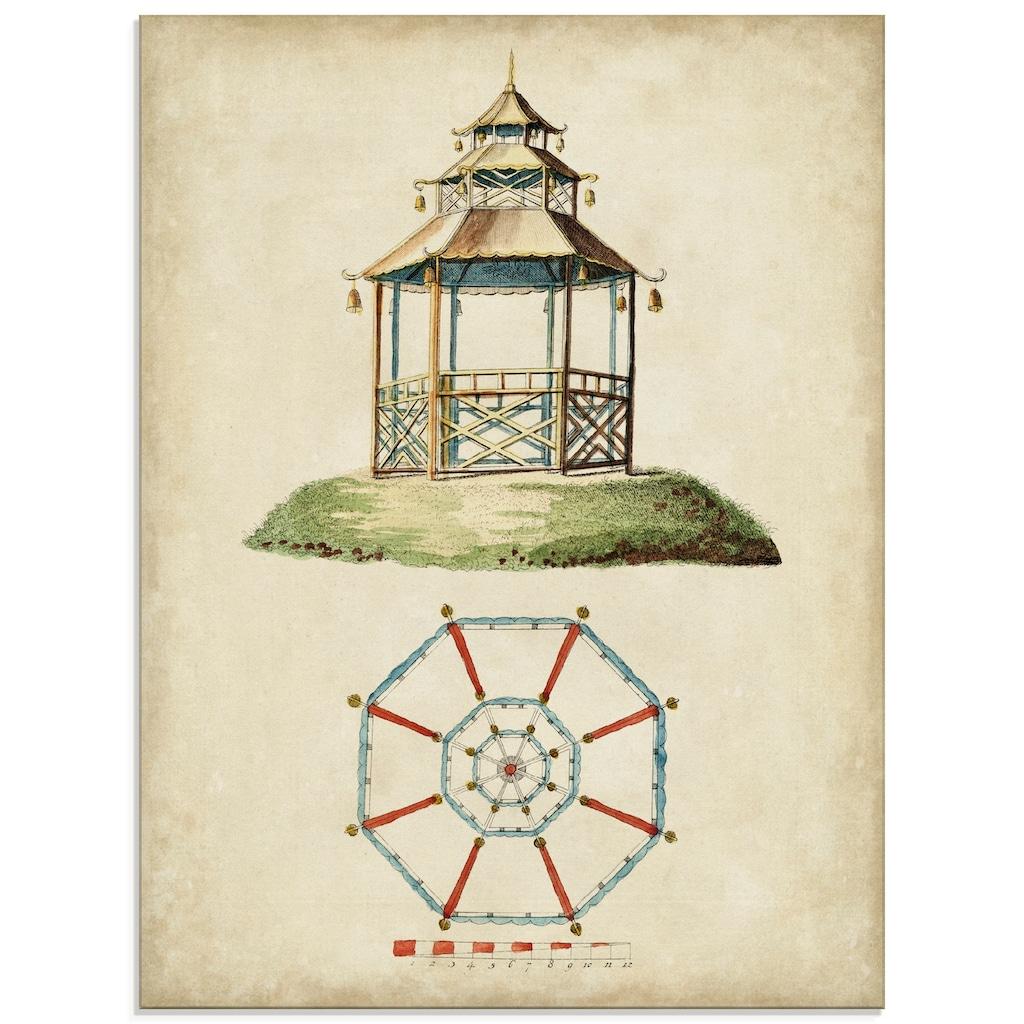 Artland Glasbild »Gartentore II«, Architektonische Elemente, (1 St.)