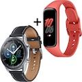 """Samsung Smartwatch »Galaxy Watch 3, Edelstahl, 45 mm, LTE (SM-R845)« (3,4 cm/1,4 """", Android Wear"""
