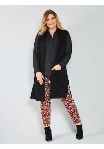 Sara Lindholm by Happy Size Longstrickweste mit Taschen kaufen