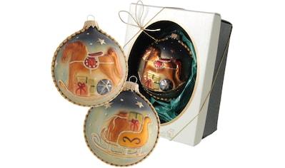 """Krebs Glas Lauscha Weihnachtsbaumkugel """"Schaukelpferd"""" kaufen"""