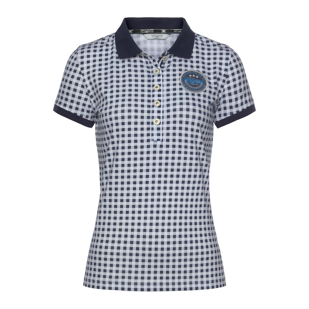 TOM TAILOR Polo Team Poloshirt, im modischen Karo-Look