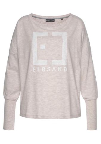 Elbsand Langarmshirt »Ingra«, mit Logoprint kaufen