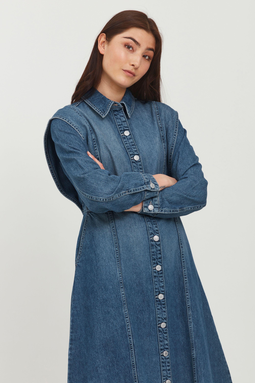 b.young -  Jeanskleid BYLYRA LONG DRESS - 20810138, Jeanskleid mit Knopfverschluss