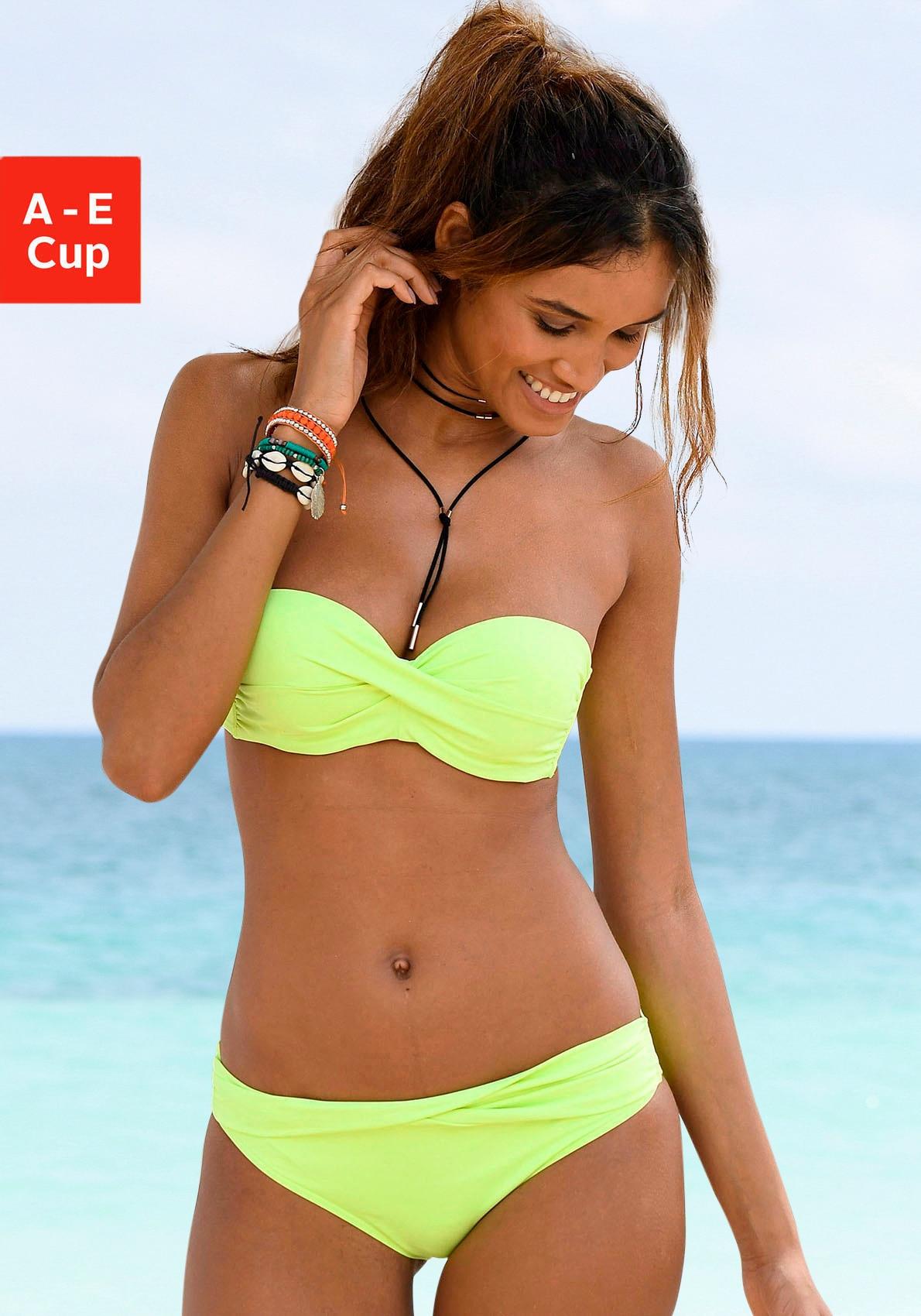 unifarben mit Wicke NEU OVP Damen s.Oliver Beachwear Bandeau-Bikini-Top »Spain«