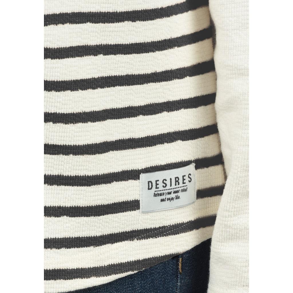 DESIRES Sweatshirt »Piper«, Rundhalspullover mit Streifen