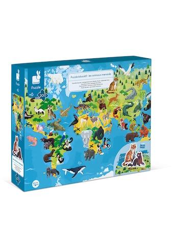 Janod Puzzle »Gefährdete Tiere«, mit Figuren kaufen