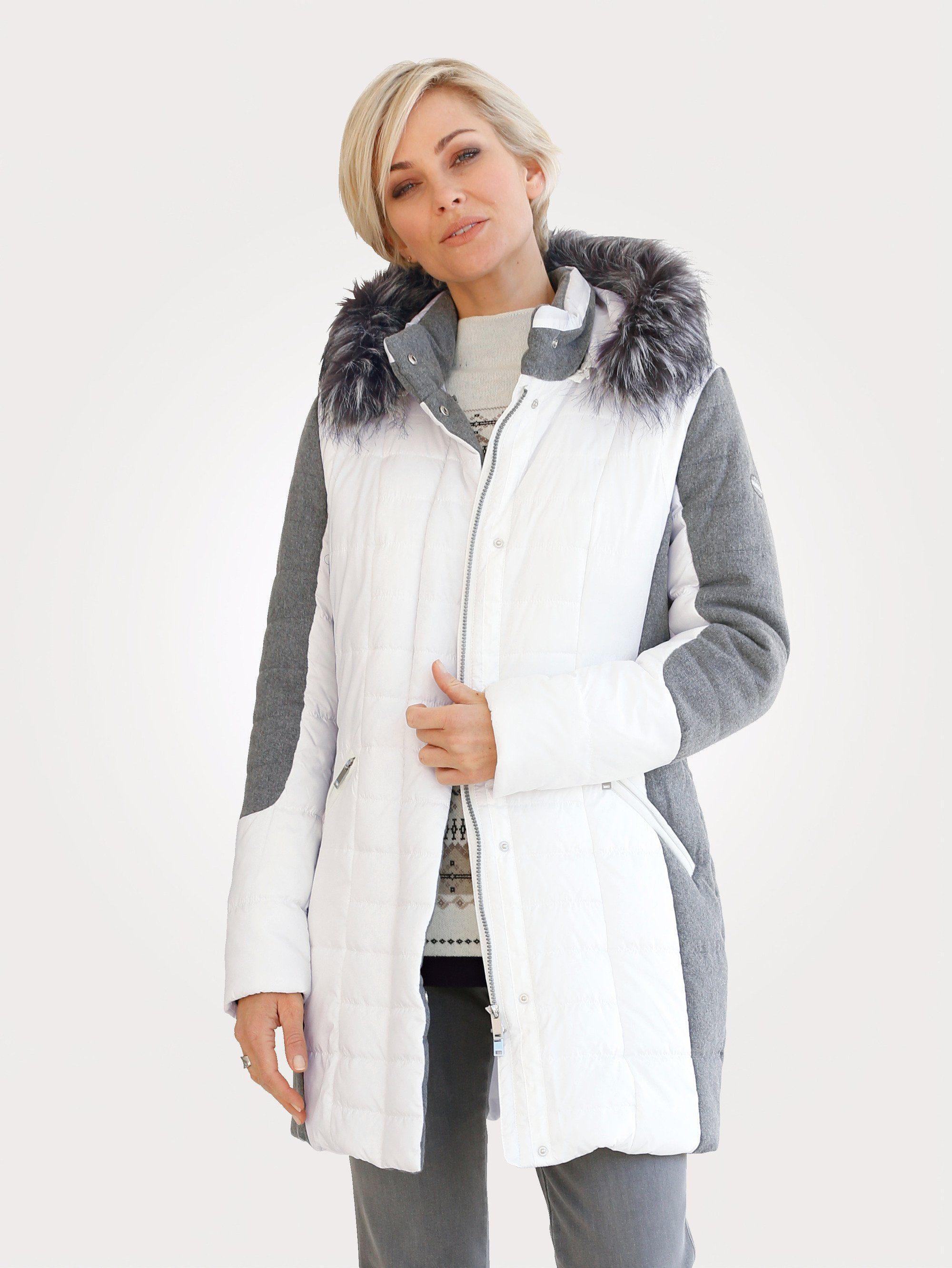 Mona Steppjacke mit abnehmbarer Kapuze | Bekleidung > Jacken > Daunenjacken & Steppjacken | Weiß | Polyester - Polyacryl | Mona