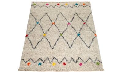 Paco Home Teppich »Wooly 281«, rechteckig, 40 mm Höhe, Hochflor-Shaggy, Scandi-Muster,... kaufen