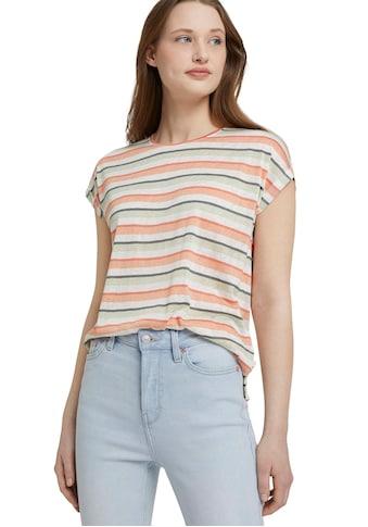 TOM TAILOR Denim T-Shirt, mit Ärmelaufschlag kaufen