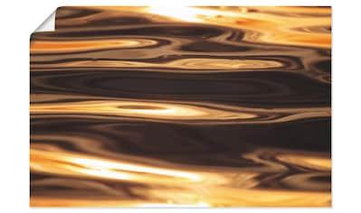 Artland Wandbild »Goldenes Wasser des Meeres«, Gewässer, (1 St.), in vielen Größen & Produktarten - Alubild / Outdoorbild für den Außenbereich, Leinwandbild, Poster, Wandaufkleber / Wandtattoo auch für Badezimmer geeignet kaufen