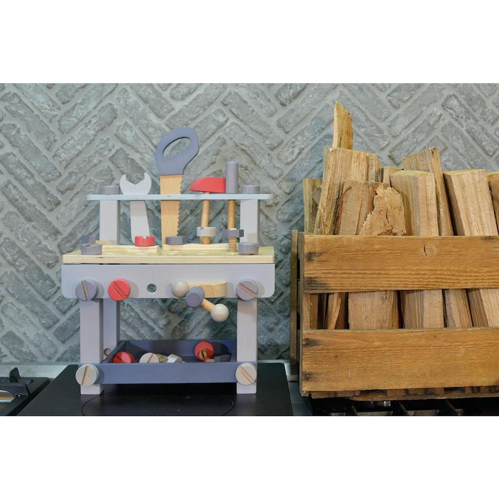 EverEarth® Werkbank »Kinder Werkbank mit Zubehör - Pastell«, FSC®-Holz aus gewissenhaft bewirtschafteten Wäldern