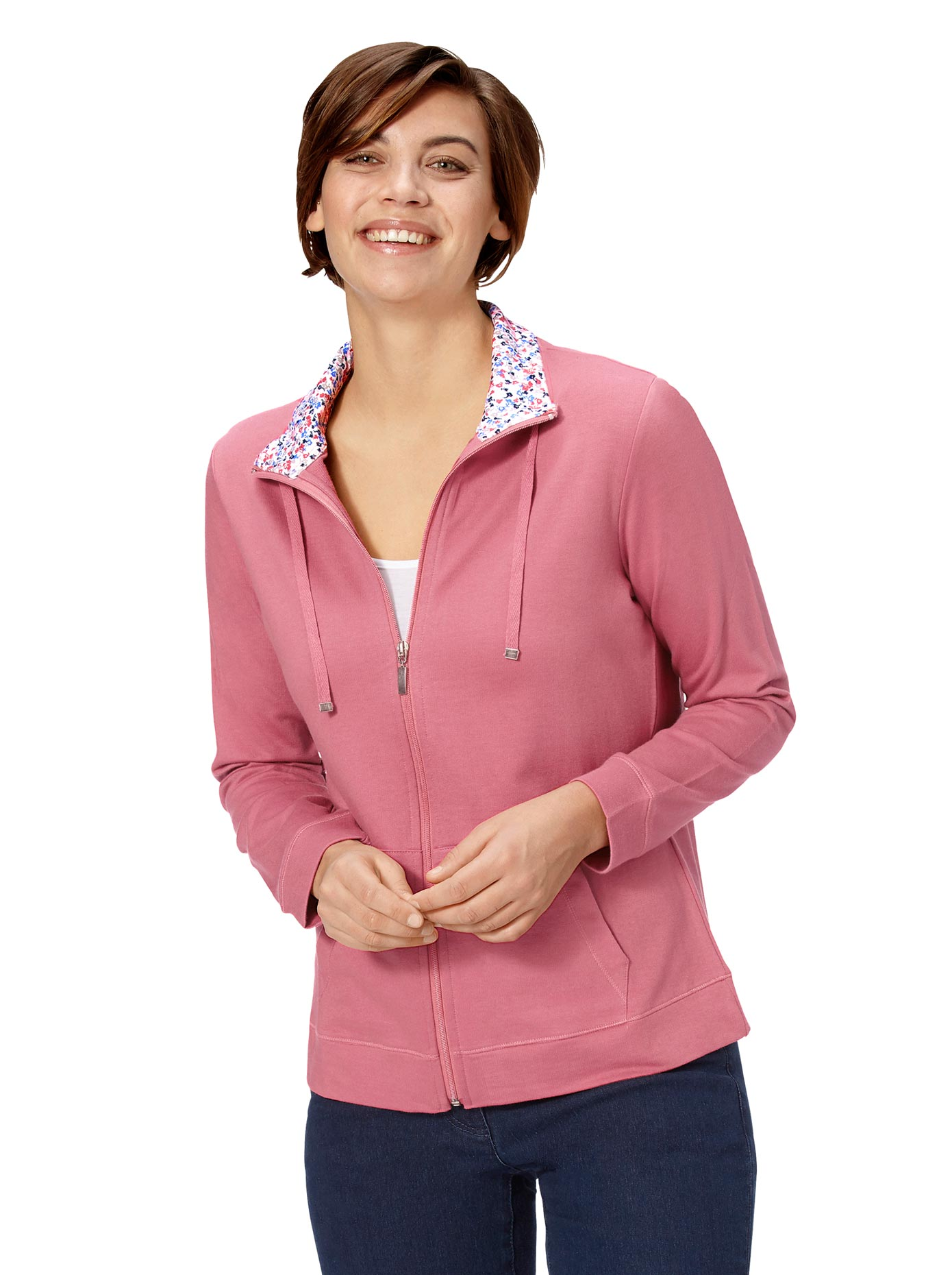 Classic Basics Shirtjacke mit Millefleurs-Blende | Bekleidung > Shirts > Shirtjacken | Classic Basics