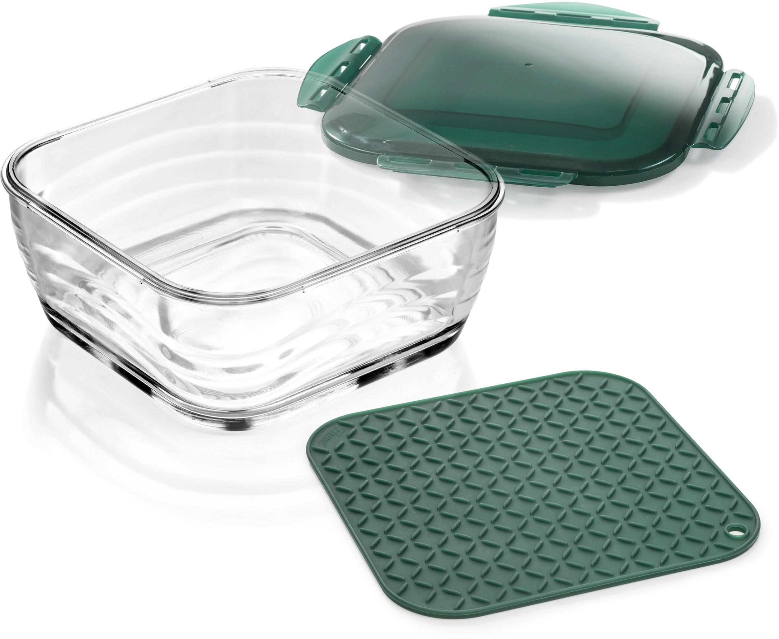 Genius Aufbewahrungsbox, (Set, 3 tlg.) farblos Aufbewahrung Küchenhelfer Haushaltswaren Aufbewahrungsbox