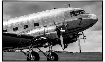 Papermoon Infrarotwandheizung »Vintage Verkehrsflugzeug Schwarz & Weiß«, sehr... kaufen