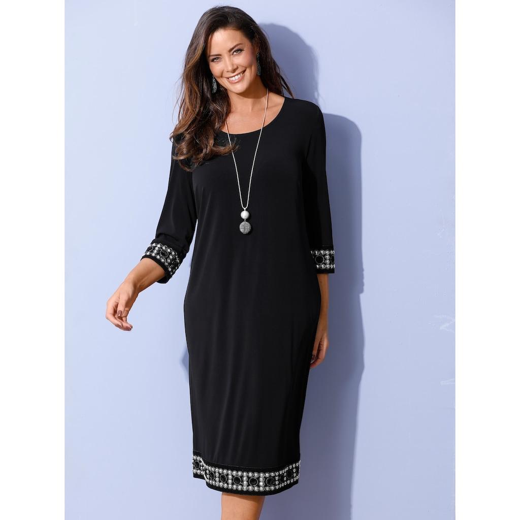 MIAMODA Sommerkleid, mit aufwändiger Bordüre an Ärmeln und Saum