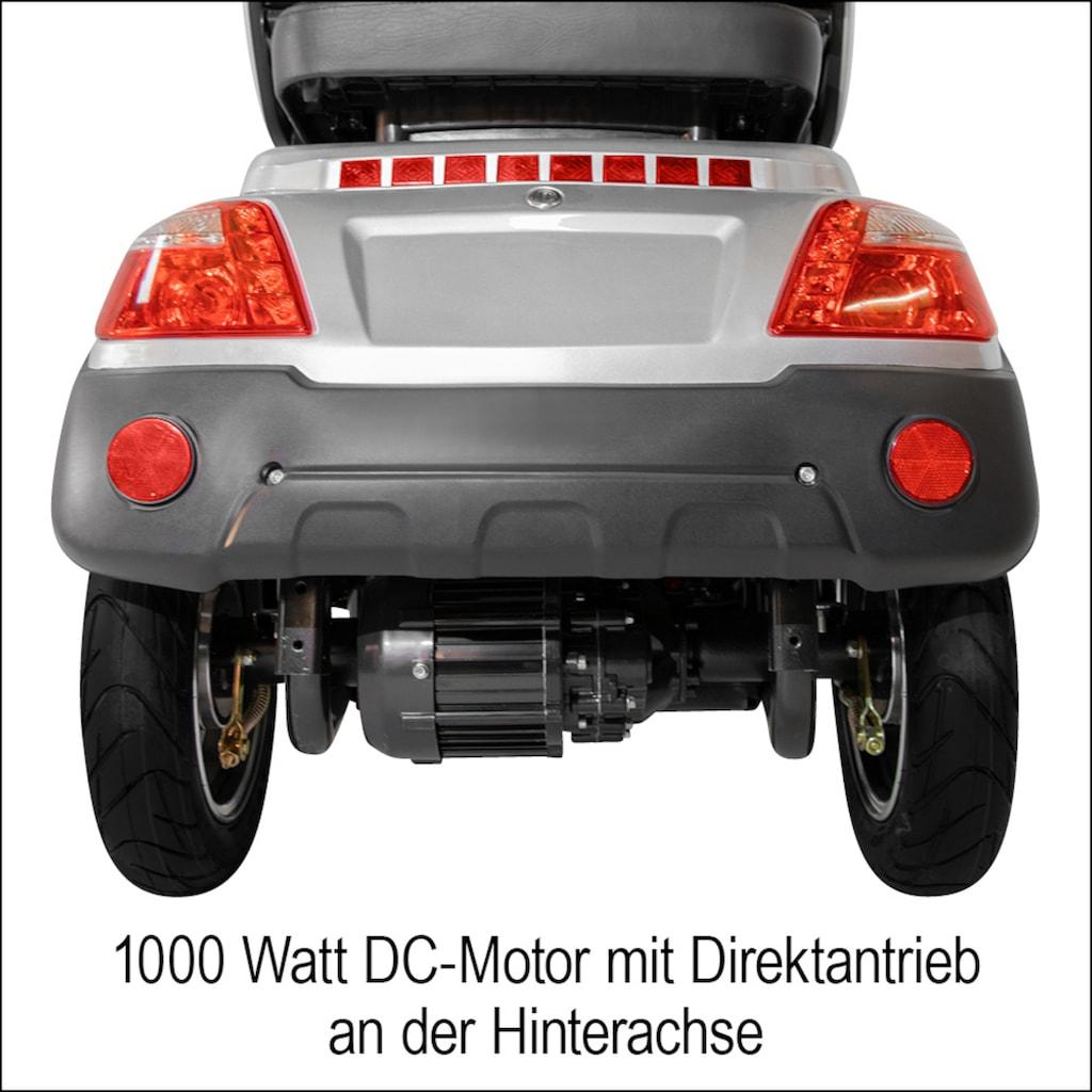 Didi THURAU Edition Elektromobil »4-Rad Palermo mit Wind- und Wetterschutz 15 km/h«, 1000 W, 15 km/h, (mit Topcase)