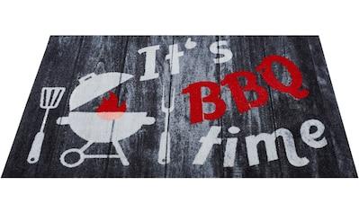 Andiamo Fußmatte »BBQ-Grillmatte«, rechteckig, 3 mm Höhe, Fussabstreifer, Fussabtreter, Schmutzfangläufer, Schmutzfangmatte, Schmutzfangteppich, Schmutzmatte, Türmatte, Türvorleger, Grillmatte bzw. Grillunterlage ideal als Bodenschutz, In- und Outdoor geeignet kaufen