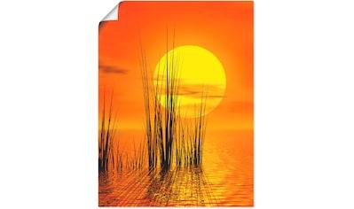 Artland Wandbild »Sonnenuntergang mit Schilf«, Sonnenaufgang & -untergang, (1 St.), in... kaufen