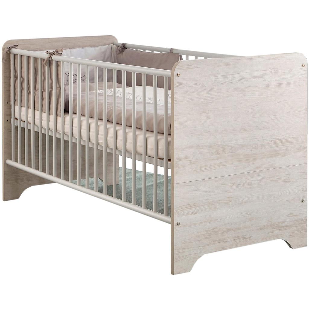 arthur berndt Babyzimmer-Komplettset »Leon«, (Set, 3 St.), Made in Germany; mit Kinderbett, Schrank und Wickelkommode