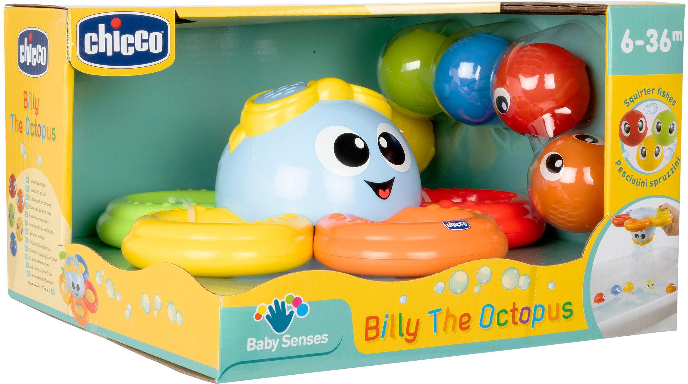 Chicco Badespielzeug Billy der Oktopus bunt Kinder Wasserspielzeug Pools Planschbecken Garten Balkon