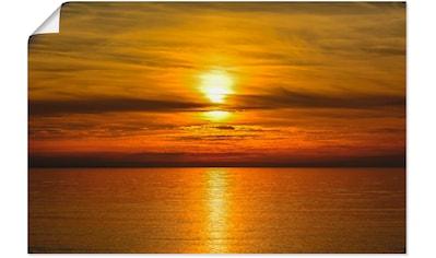 Artland Wandbild »Sonnenuntergang am Meer«, Gewässer, (1 St.), in vielen Größen &... kaufen