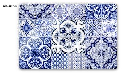 Wall-Art Herd-Abdeckplatte »Spritzschutz Küche Vintage Blau«, (1 tlg.) kaufen