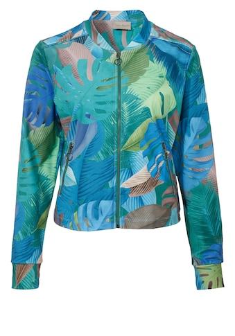 VIA APPIA Seidige Jacke mit Dschungelmotiv kaufen