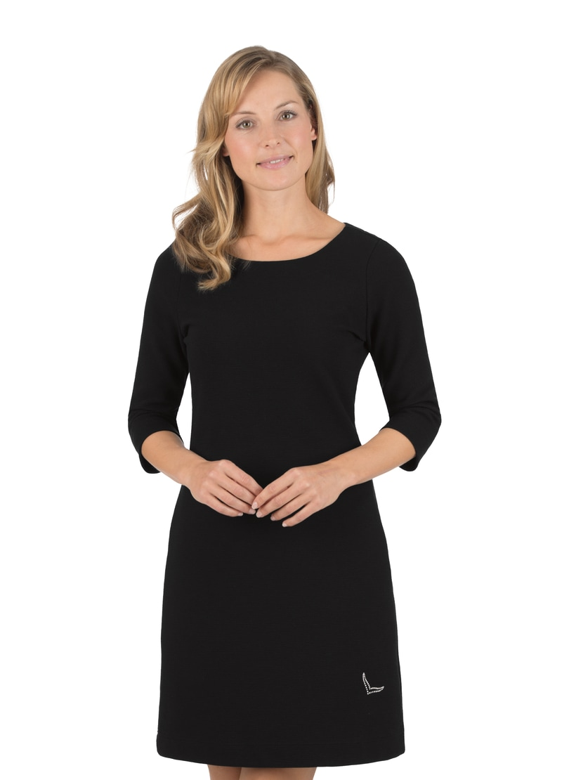 Trigema Kleid mit Swarovski Kristallen schwarz Damen Knielange Kleider