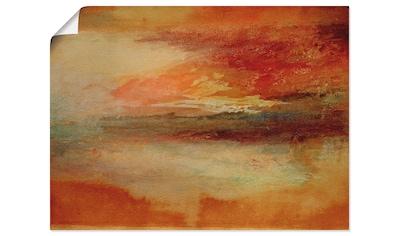 Artland Wandbild »Sonnenuntergang bei Margate 1840«, Sonnenaufgang & -untergang, (1... kaufen