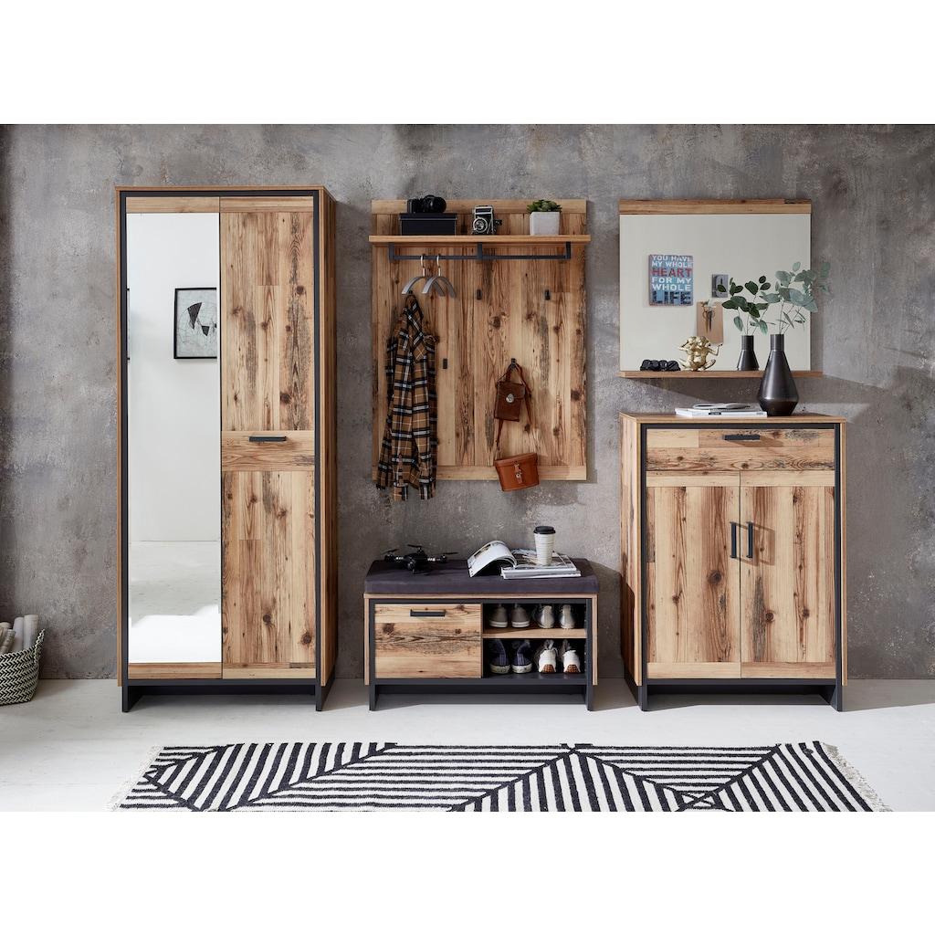 Innostyle Garderobenpaneel »Prato«, inklusive Reilingsystem und Haken in Metall, graphit matt