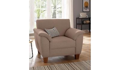 Home affaire Sessel »Alta«, mit Federkern und Kontrastnaht, Füße Buche eichefarben kaufen