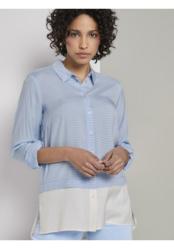 TOM TAILOR mine to five Blusentop »Gestreifte Double-Layer Bluse« kaufen