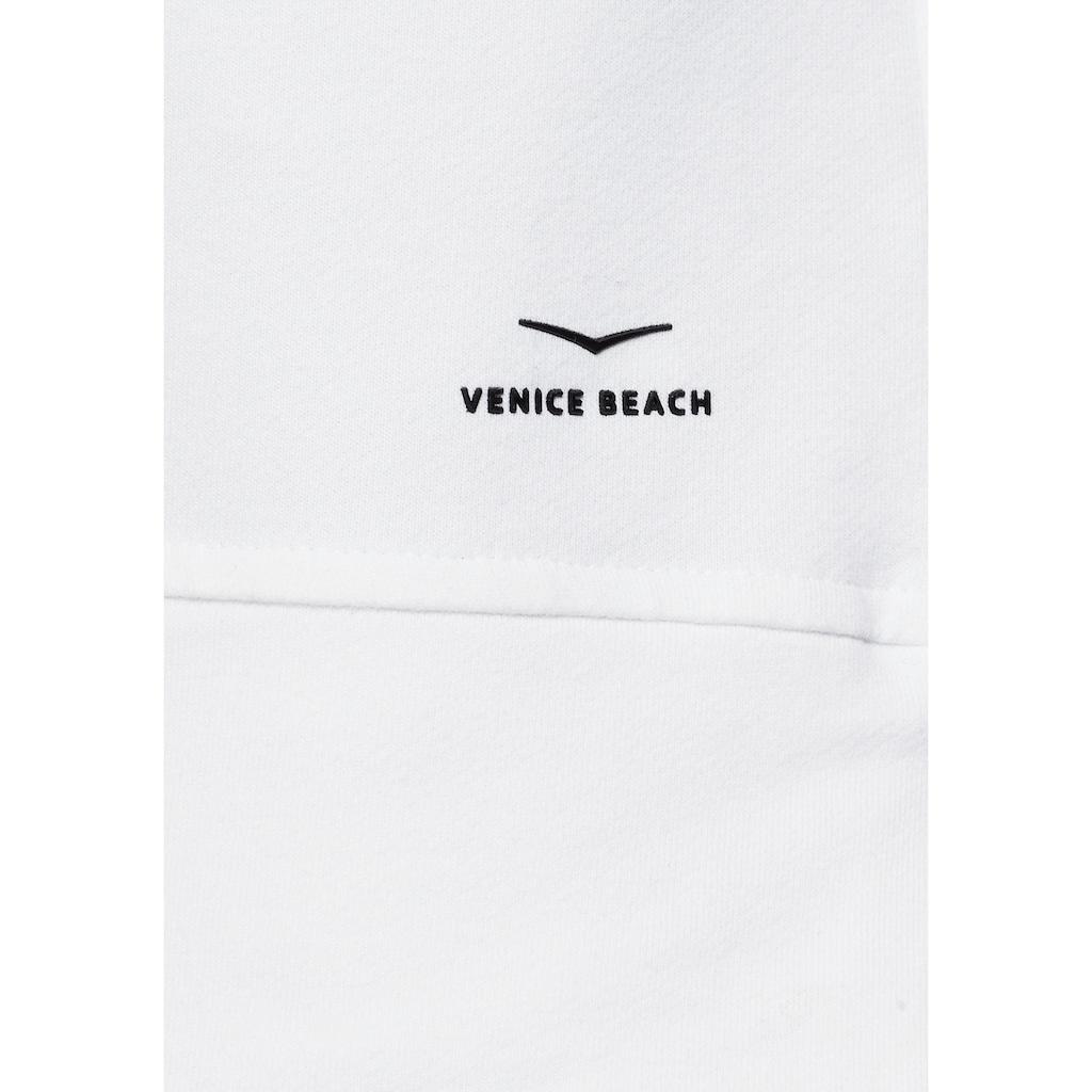 Venice Beach Hoodie »Ponga«, Logo Tape in der Kapuzeninnenseite