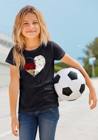 KIDSWORLD T-Shirt »Fußballshirt«, mit Wendepailletten kaufen
