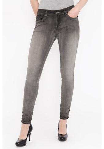 Blue Monkey Skinny-fit-Jeans »Honey 1854«, mit seitlich aufgenähtem Glitzerband, Used Look kaufen