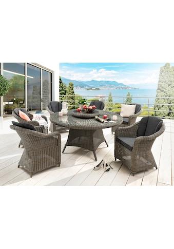 DESTINY Sitzgruppe »Luna/Malaga«, 15 - tlg., 6 Sessel, Tisch 150 cm, Alu/Polyrattan kaufen