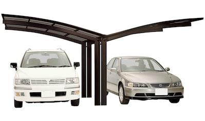 Ximax Doppelcarport »Portoforte Typ 60 Y-mattbraun«, Aluminium, 527 cm, braun, Aluminium kaufen