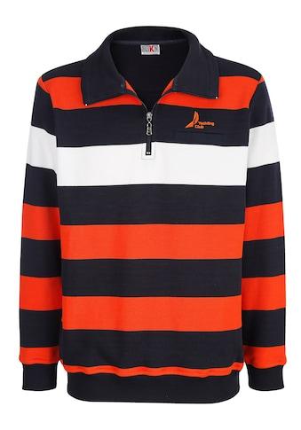 Roger Kent Sweatshirt, mit Streifenmuster kaufen