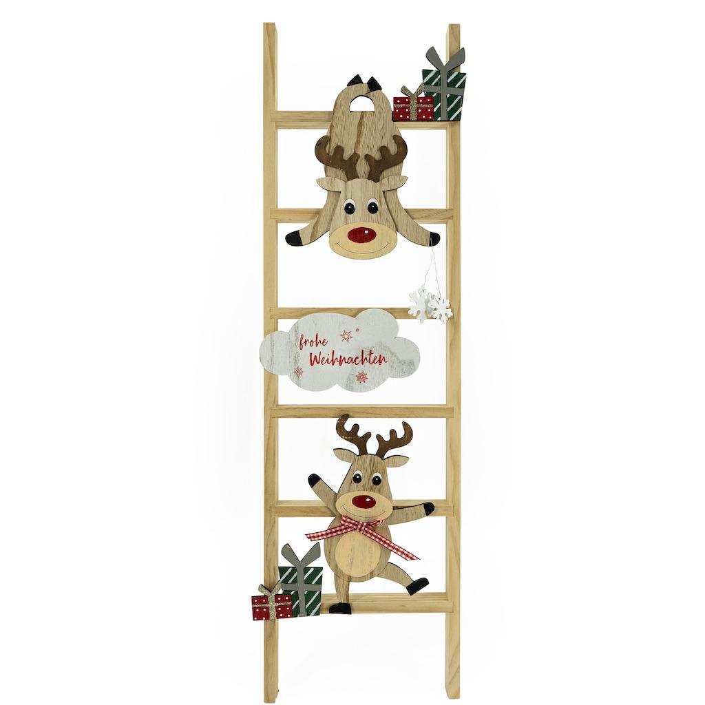 NOOR LIVING Dekoleiter »Frohe Weihnachten«, Höhe 90 cm