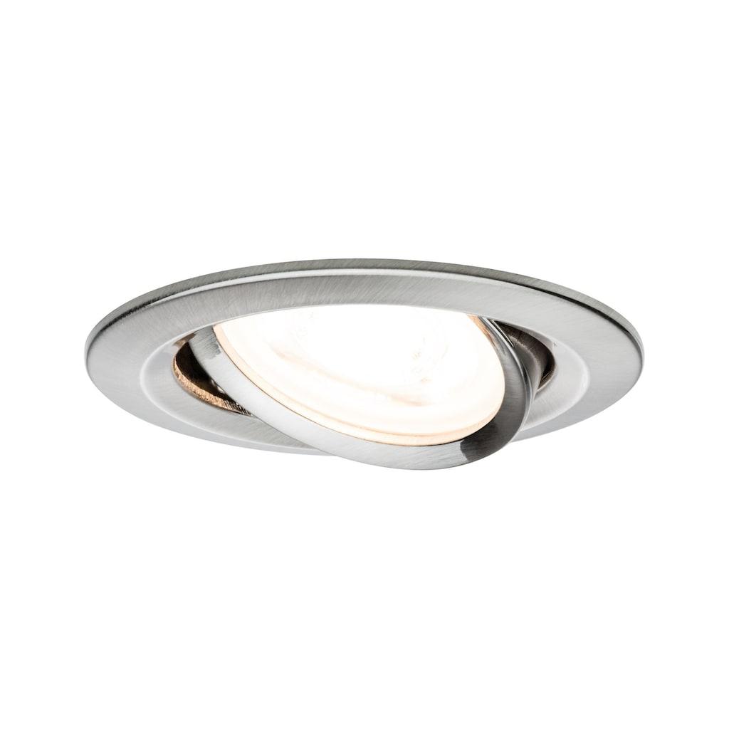 Paulmann LED Einbaustrahler »Nova rund 1x6,5W GU10 Eisen gebürstet schwenkbar 3-Stufen-dimmbar«, GU10