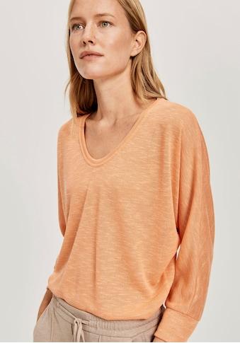 OPUS Langarmshirt »Sunshine«, mit V-Ausschnitt kaufen