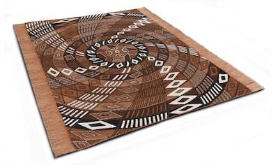 DIE HAUSKUNST Teppich »Funun Funun«, rechteckig, 4 mm Höhe, Flachgewebe, handgewebt, mit Fransen, Wohnzimmer kaufen