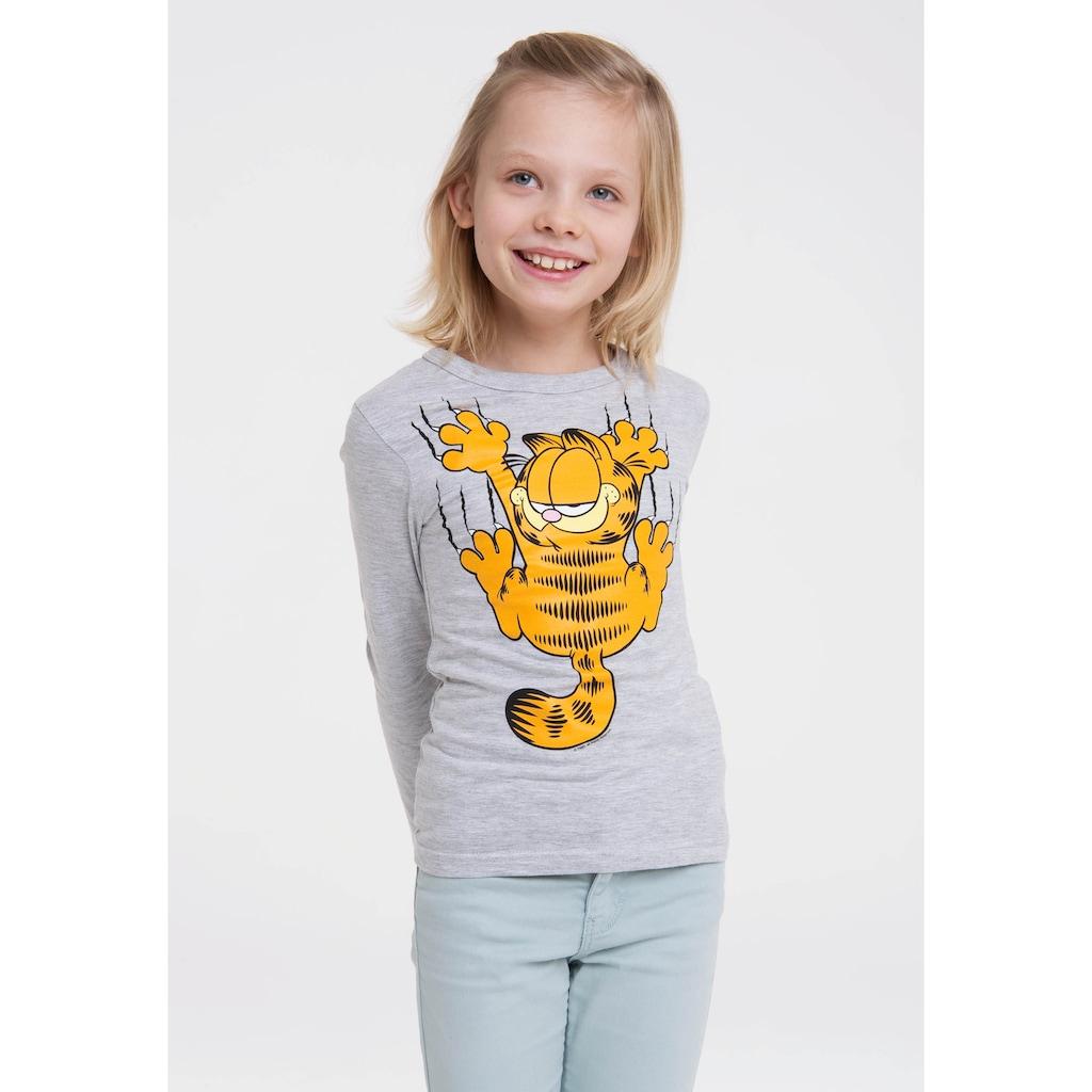 LOGOSHIRT Print-Shirt »Garfield«, mit lässigem Frontprint