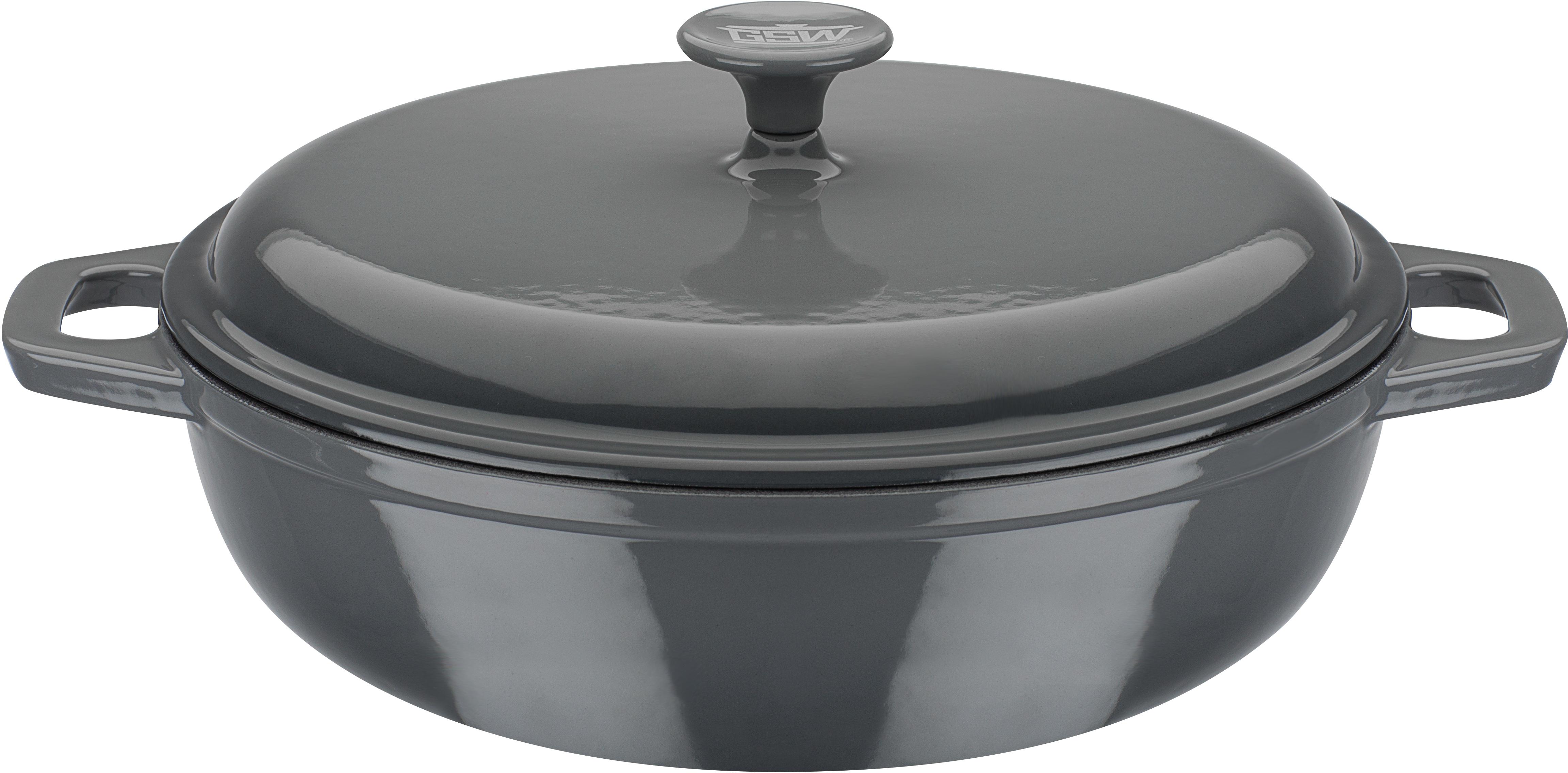 GSW Schmortopf grey, Gusseisen, (1 tlg.), Induktion grau Schmortöpfe Töpfe Haushaltswaren