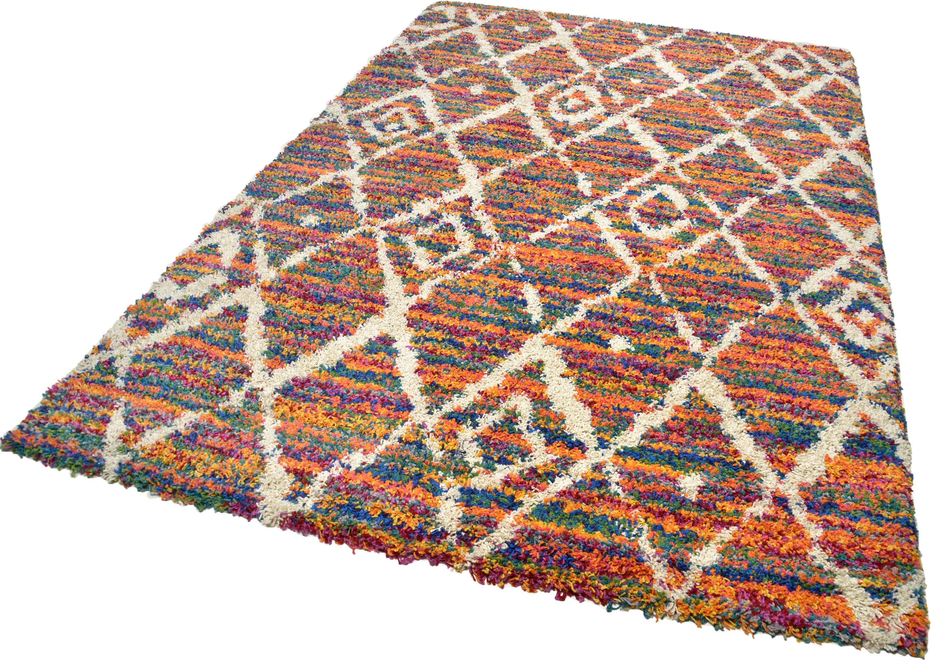 Hochflor-Teppich Color Shaggy 621 THEKO rechteckig Höhe 35 mm handgewebt